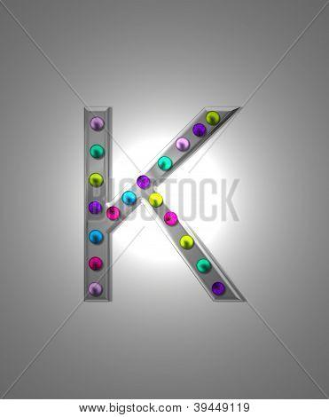 Alfabeto marquesina metálica Kk