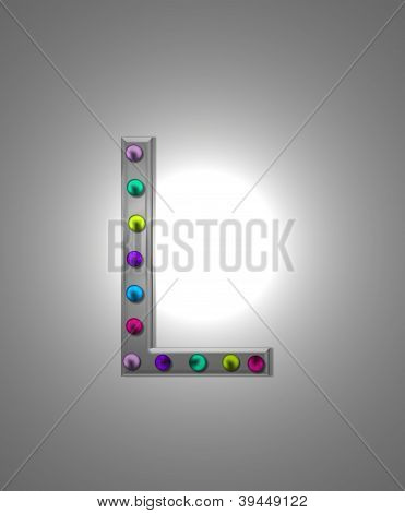 Alphabet Metal Marquee Ll