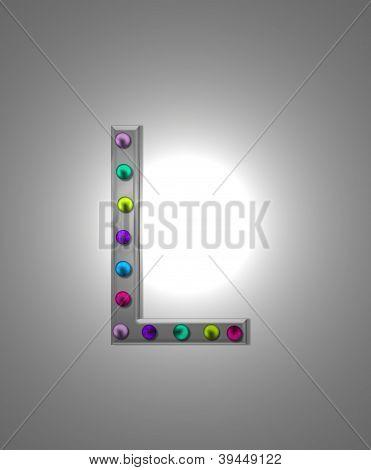Alphabet Metall Festzelt ll