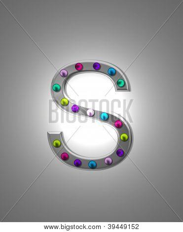 Alfabeto letreiro Metal Ss
