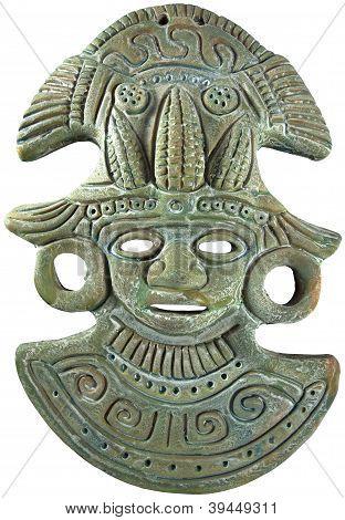 Aztec Mayan Maize God Mask - Mexico
