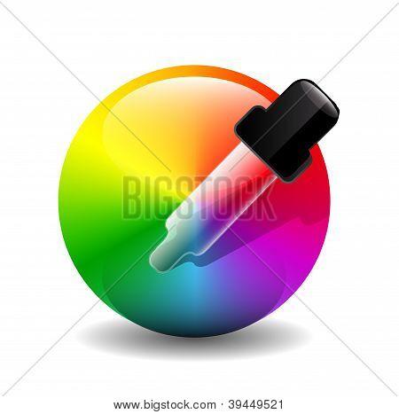 Vector color picer icon