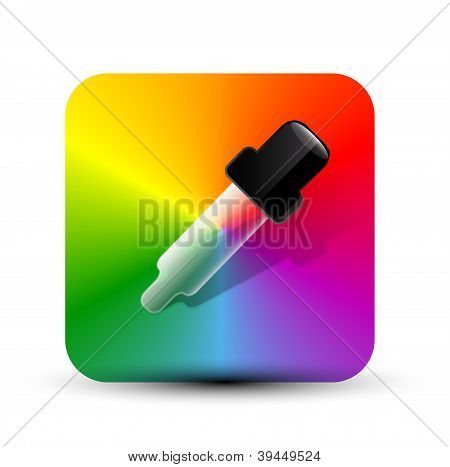 Vector color picer icon