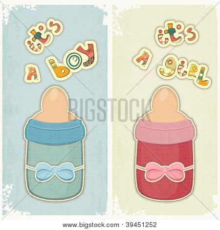 Set Of Birthday Card For Boy And Girl