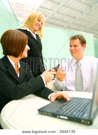 Switching-Telefon mit Mitarbeiter