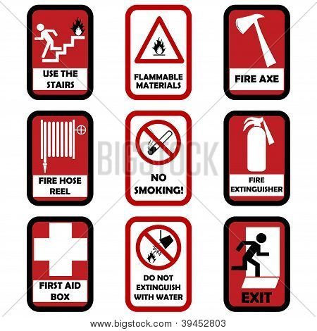 Fire Caution Signs