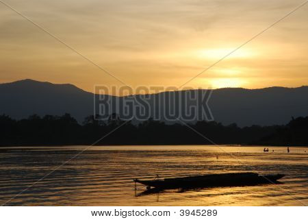Beautiful Landscape On The Mekong River