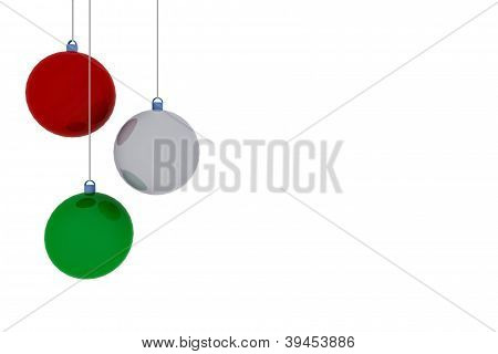 Christmas background with balls - 3D