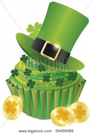 St Patricks Day Leprechaun Hat Cupcake