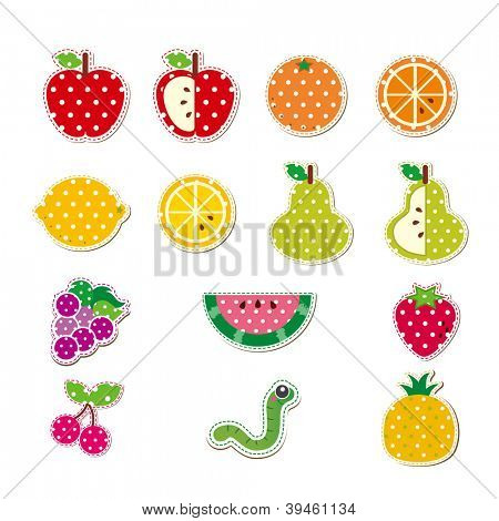 Cute Stitched Fruit