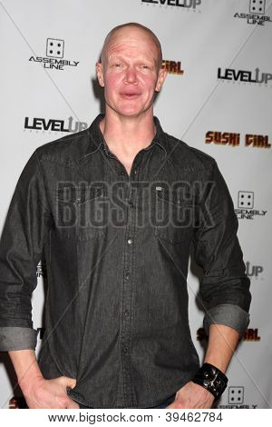 LOS ANGELES - NOV 27:  Derek Mears arrives at the 'Sushi Girl' Premiere at Graumans Chinese Theater on November 27, 2012 in Los Angeles, CA