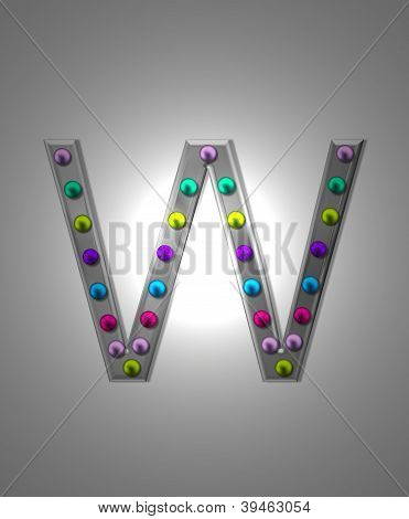 Alphabet Metal Marquee Ww