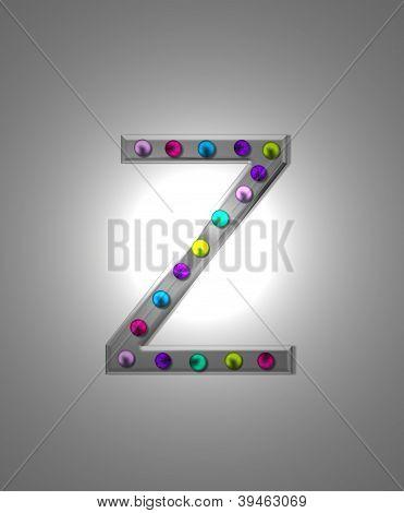 Alfabeto letreiro Metal Zz