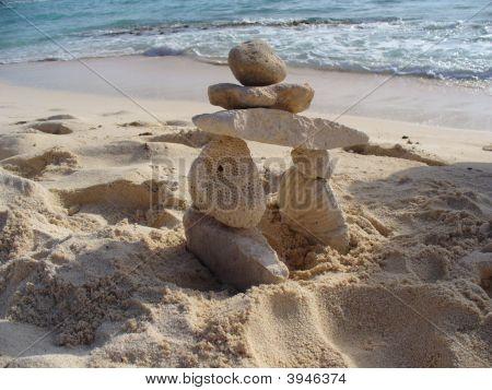 Inukshuk On Beach