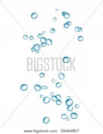 blaue Wasser-Blasen