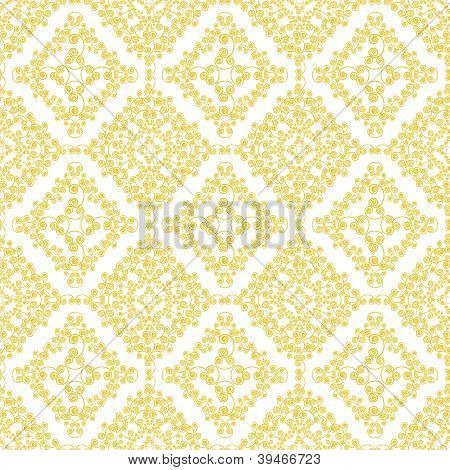 Abstract yellow swirls seamless pattern background