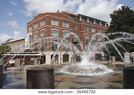 Fuente en parque público en Charleston Carolina del sur