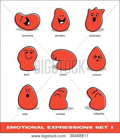vector emotional expressions set 1