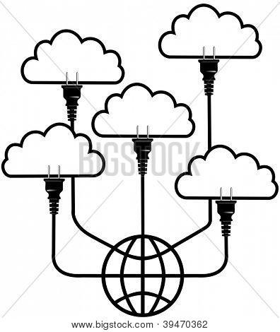 Plug in SaaS technology up to global cloud computing platform