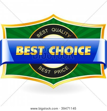 BEST CHOICE. Vector illustration.