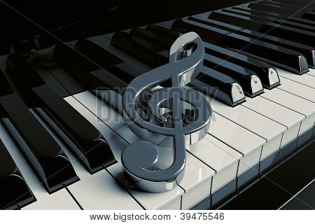 Closeup Piano Keys