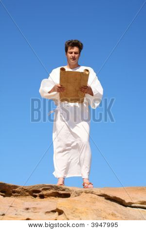 Man In Robe Reading