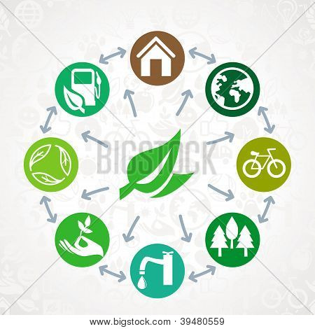 Vector Green  Ecology Concept
