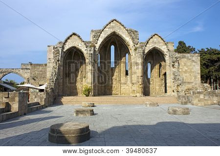 Romanic basilica ruins, Rhodes