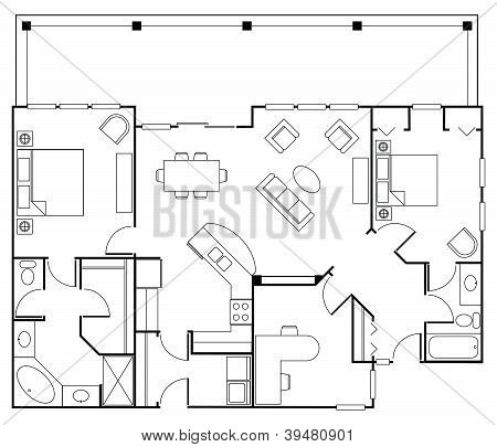 Wohn floorplan