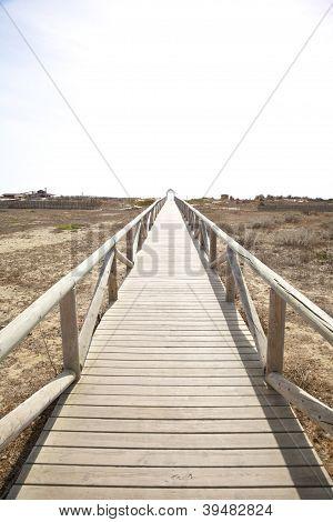 Lonely Wooden Footbridge