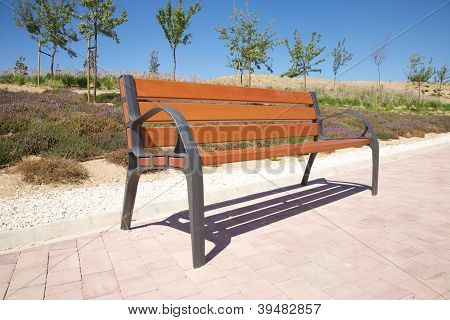 Side Wooden Bench