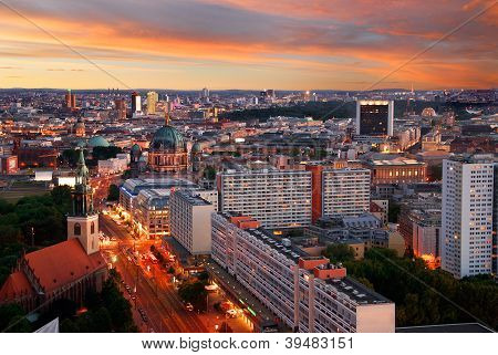 Berlin Skyline Sunset