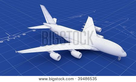 Commercial Aircraft Blueprint