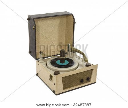 Vintage Portable Record Player from the 1960's.