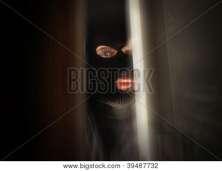 Scary Burglar Breaking In House