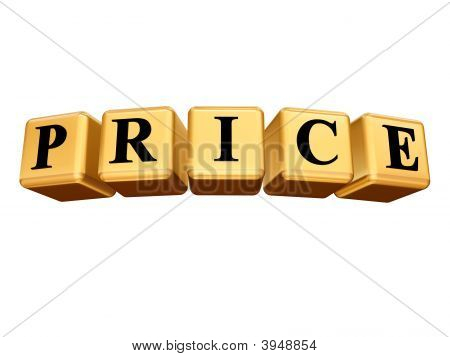 Golden Price Isolated