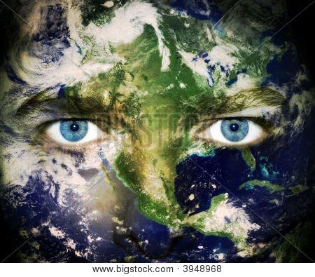 Olhos do planeta terra
