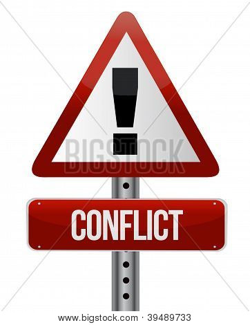 Señal de advertencia de conflicto