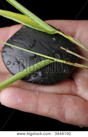 Massage Stone With Bamboo