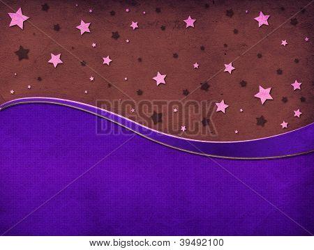 Retro Background With Stars