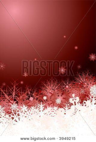 Snowflake Pile Red