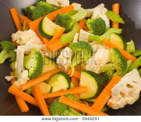 Raw Chopped Vegetables