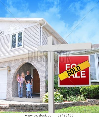 Happy Family Buying A New Home