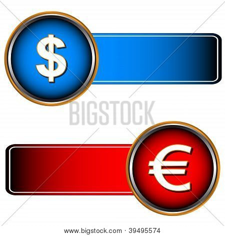Two Symbols Of Currencies