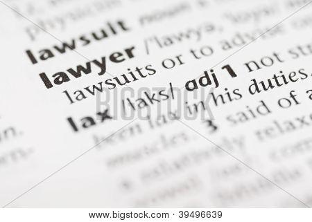 Macro Dictionary Word: Lawyer.