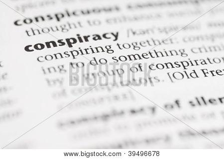 Macro Dictionary Word: Conspiracy.