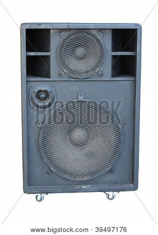 Old Powerful Stage Concerto Audio Speaker Isolated