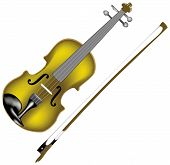 vector violin and bow