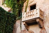 stock photo of juliet  - The Famous Balcony of Juliet Capulet Home in Verona Veneto Italy - JPG