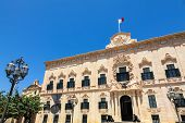 picture of prime-minister  - Auberge de Castille in Valletta Malta  - JPG